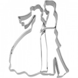 Cookie cutter with stamp Bridal couple