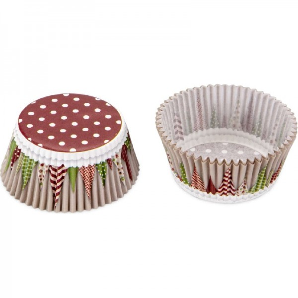 Paper cupcake liners Coloured flowers – Mini – 100 pieces