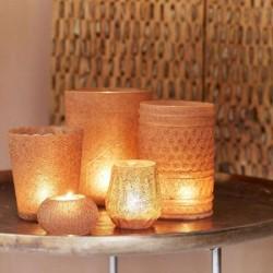 Teelichthalter Elegance weiss, 16 cm