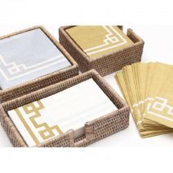 Rattan whitewash napkin holder, for napkins 32 x 40 cm