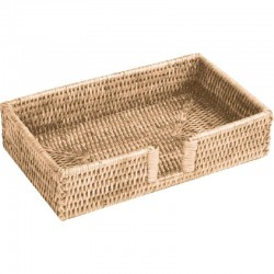 Rattan whitewash napkin holder, for napkins 32 x 40 cm