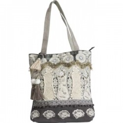 Shoulder bag Kimberley grey/gold