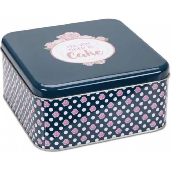 Biscuit tin All you need is Cake – Round