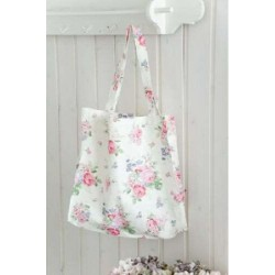 Shopper bag Cherry berry pale  green by Greengate