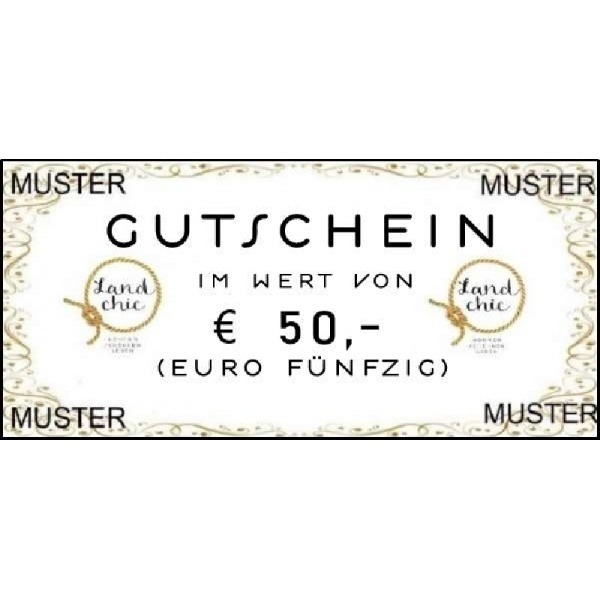 Gutschein über Euro 50,--