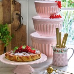 Bowl with lid Alice pale pink by Greengate, large