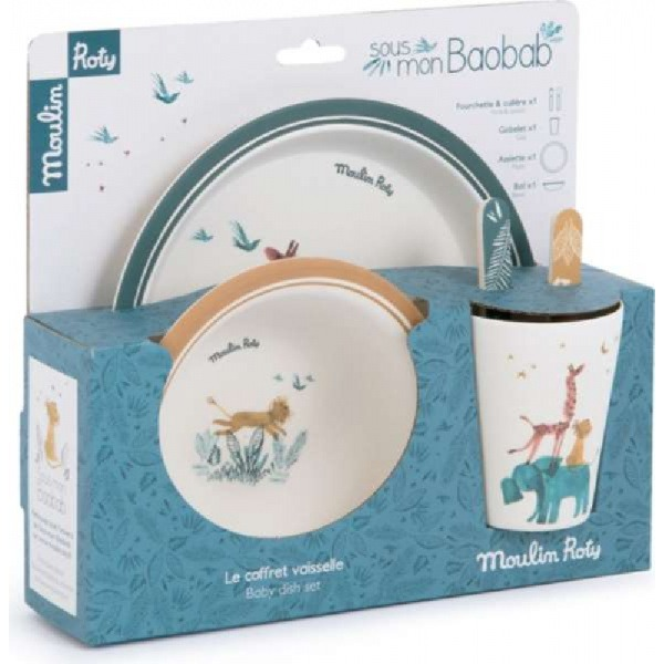 Tableware set for children, Mouse by Moulin Roty