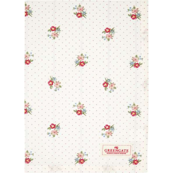 Tea Towel - Edda white by Greengate