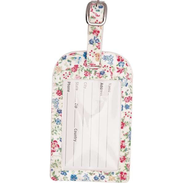 Oilcloth Keyring heart Sophia white by Greengate