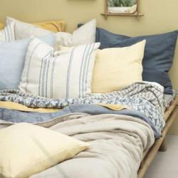 Decke - Plaid - creme/ziegel, Harlekinmuster, 130 x 160 cm
