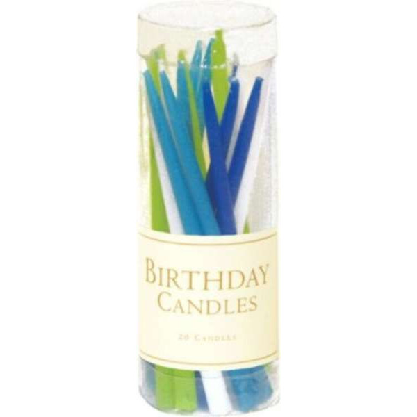 Birthday candles without fragrances