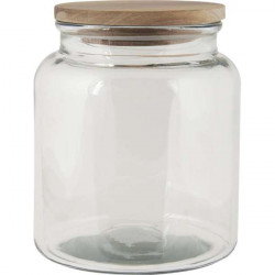 Glass Storage Jar with woodel lid - 3000ml