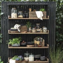 Glass Storage Jar with woodel lid - 3000ml