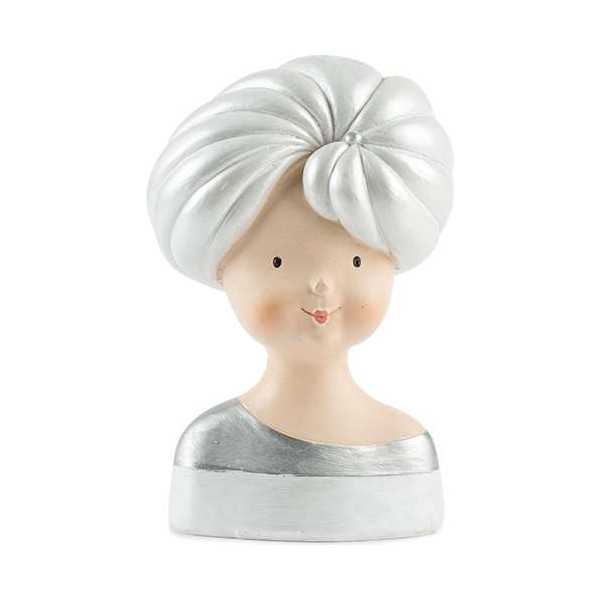 Lady head with shell