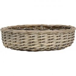 Brotkorb - Bread basket rund mit schwarzer Kante
