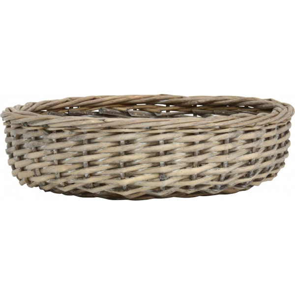 Bread basket round with black edge