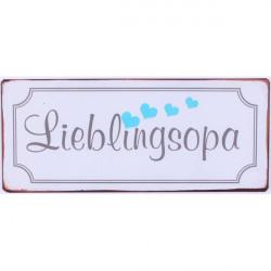 Blechschild - Lieblingsoma