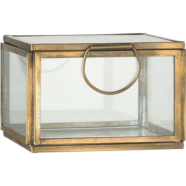 Box with glass lid