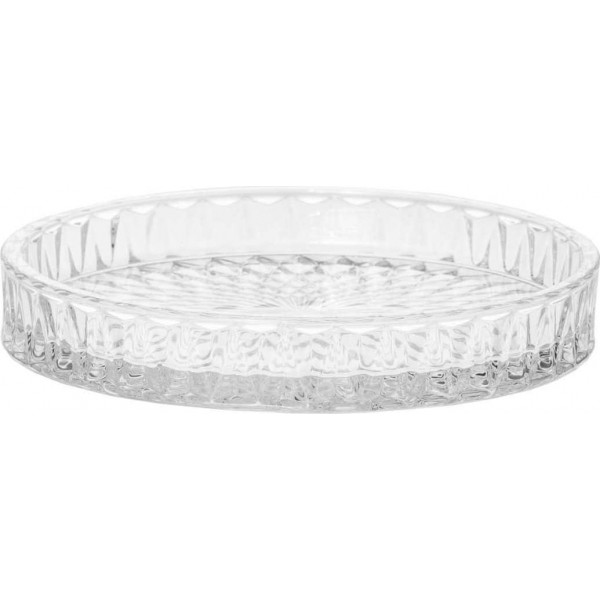 Candle plate Elody, transparent, small