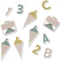 Table Confetti zur Einschulung - Buchstaben