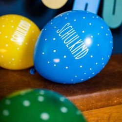 Schoolchildrens balloons made of 100% natural rubber