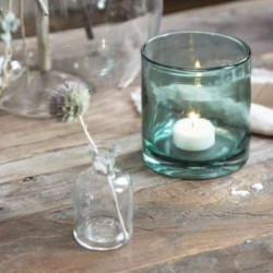 Apothecary glass for candles with harlequin pattern