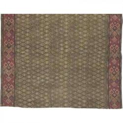 Teppich grau/beerenfarbig, Handarbeit, 120 x 180 cm
