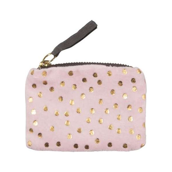 Coin pocket pearl pink