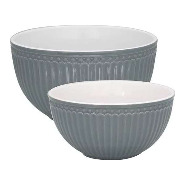 Serving bowl - Alice red, large, by Greengate