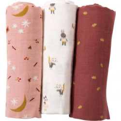 Set of 3 diapers, Sous mon baobab by Moulin Roty