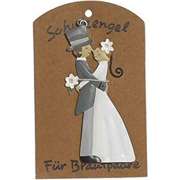 """Guardian angel on card """"For newlyweds"""""""