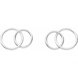 Round and Round ear studs silver stainless steel