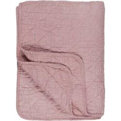 Decke - Quilt -  weiss/rot gestreift, 130 x 180 cm