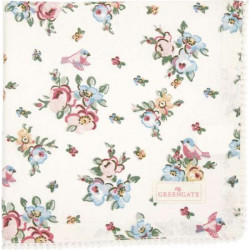 Napkin Ava white with lace by Greengate