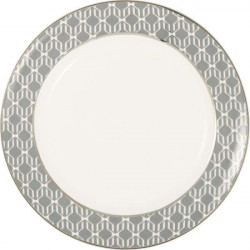 Plate Antonia white by Greengate