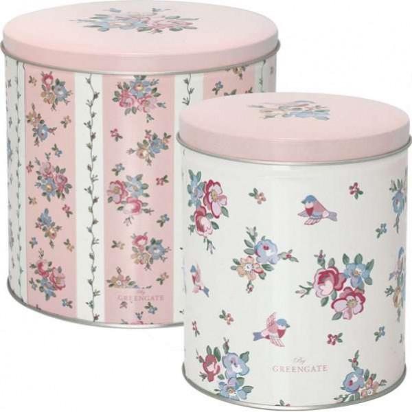 Round box Ava white, large by Greengate