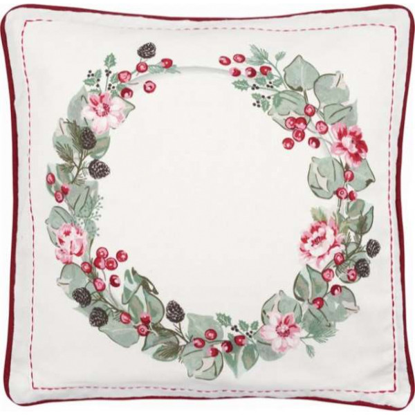 Cushion Cover -  Charline white, 40 x 40 cm by Greengate