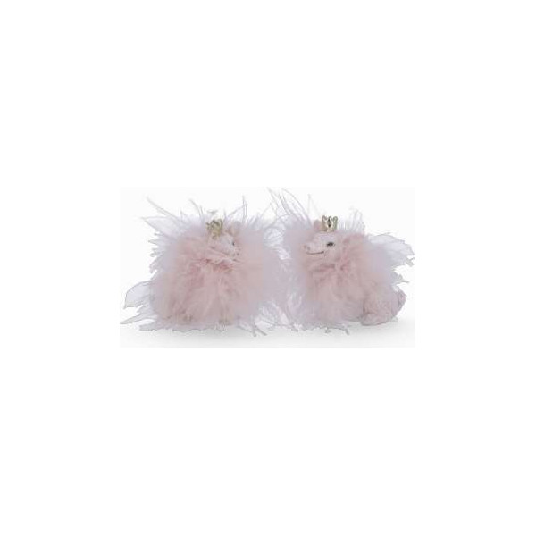 Pig with crown and glitter feather, pink