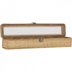 Jewelry box with 6 rooms and glass front