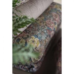 Decke - Quilt -  weiss/grau gestreift, 130 x 180 cm
