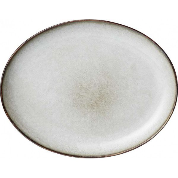 Plate Maxime white by Greengate