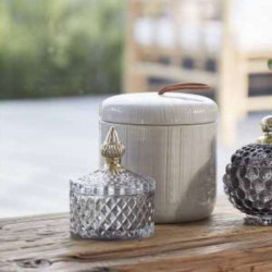 Storage jar Miya Grey/Gold