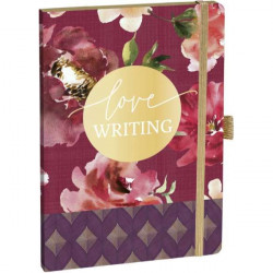 Notebook with spiral, watercolor roses