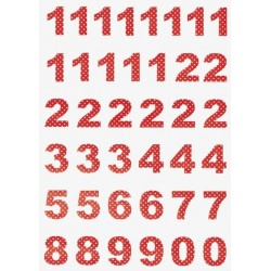 GreenGate Calendar Numbers - Spot Red