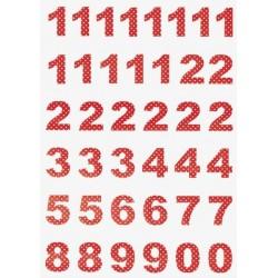 Spot Red Advents-Kalenderzahlen von Greengate