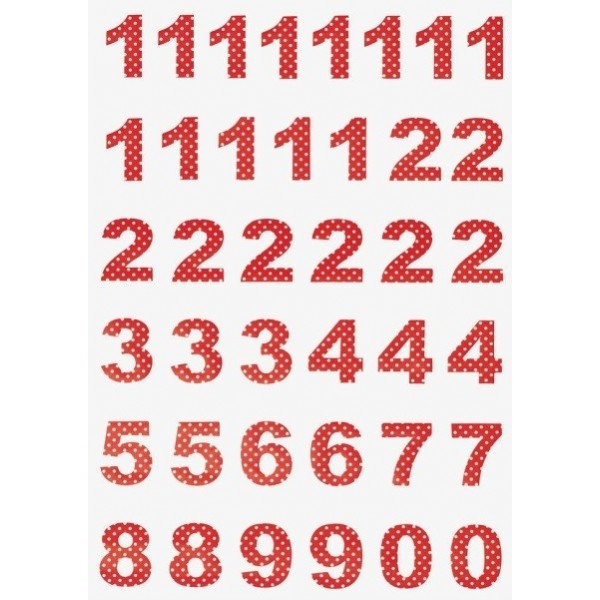 GreenGate Calendar Numbers - Spot Red