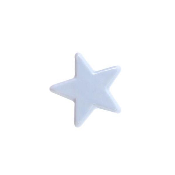 Möbelknopf Stern grau