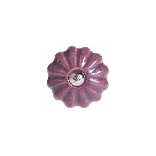 Möbelknopf Keramik lavendel