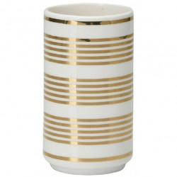Vase Stripe gold by Greengate