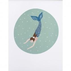 Poster Meerjungfrau, DIN A3